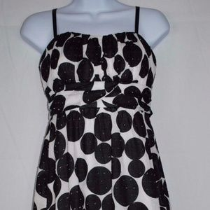 MAURICES Black Polka Dot  Dress Size 3/4 S421